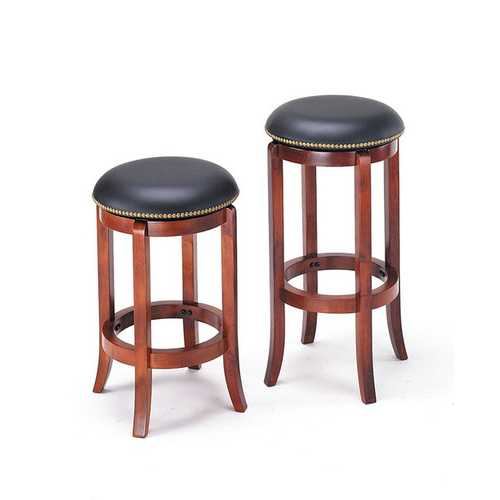 Chelsea Bar Stool with Swivel, PU & Oak