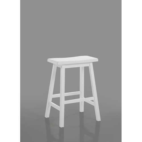 "Gaucho 24"" Counter Height Stool in White"