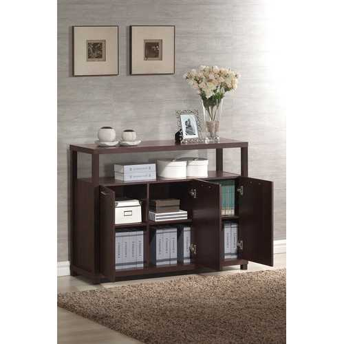 Hill Cabinet with 3 Doors, Espresso
