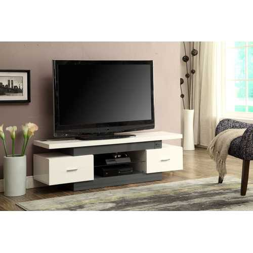 Vicente TV Stand, White & Gray