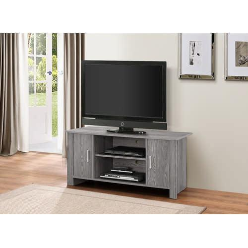 Tedros TV Stand, Gray Oak