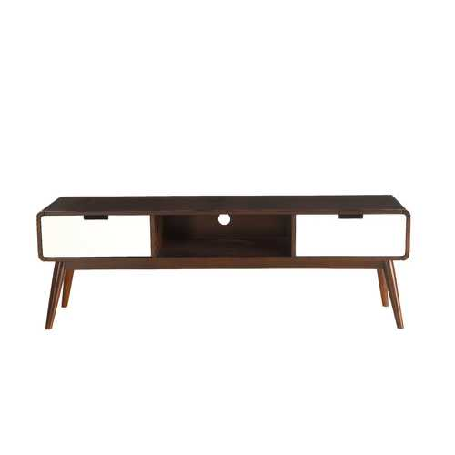 Christa TV Stand in Espresso & White