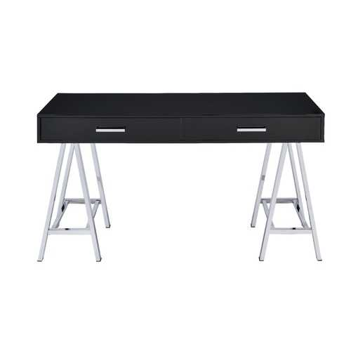 Coleen Desk in Black & Chrome