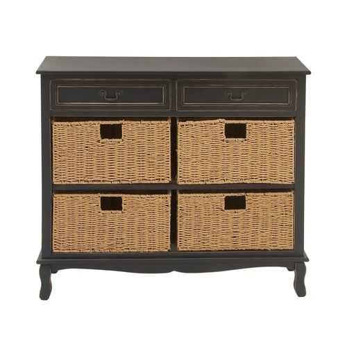 Outstanding Wood Sea Grass Black Dresser