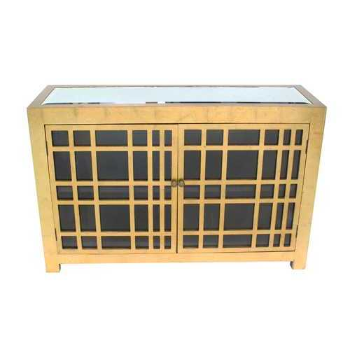 TETON HOME RUSTIC GOLD LATTICE CABINET - AF-117