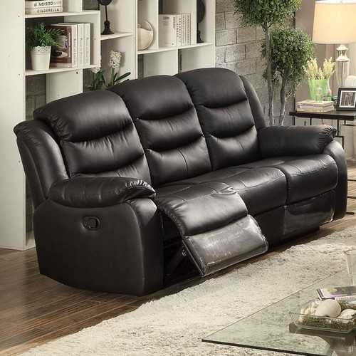 Transitional Glider Reclining Sofa