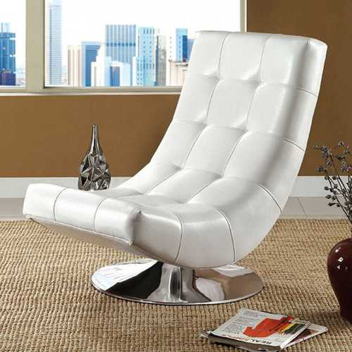Trinidad Contemporary Swivel Chair, White