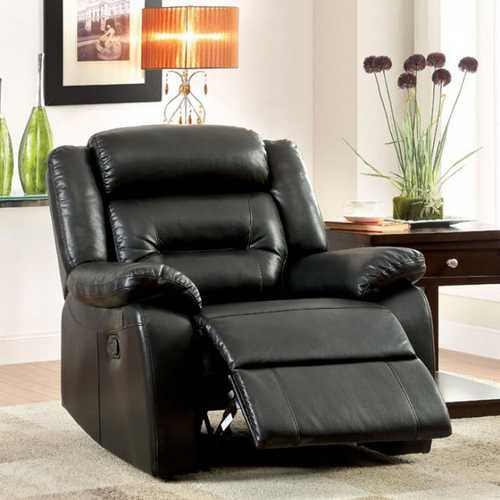 Sheldon Contemporary Recliner In Black