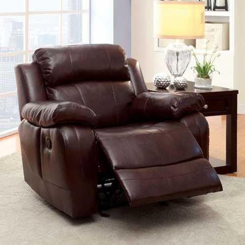 Hughes Transitional Recliner, Dark Brown