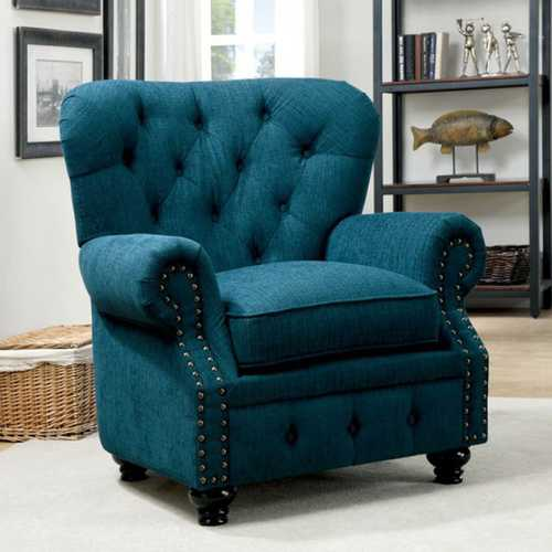 Stanford Transitional Chair, Dark Teal