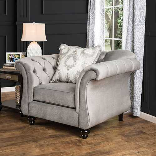 Antoinette Dolphin Gray Chair