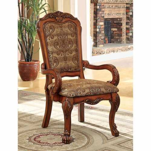 Medieve Arm Chair Seat - Cal Foam, Antique Oak Finish, Set Of Two