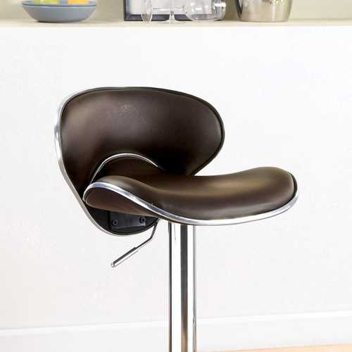 Kossi Contemporary Kossi Bar Stool, Dark Brown