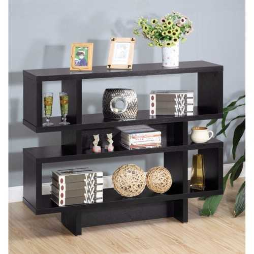 Contemporary Style Sofa Console / Display Cabinet, Black