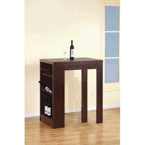 Stylish Bar Table With Table Top Features, Dark Brown