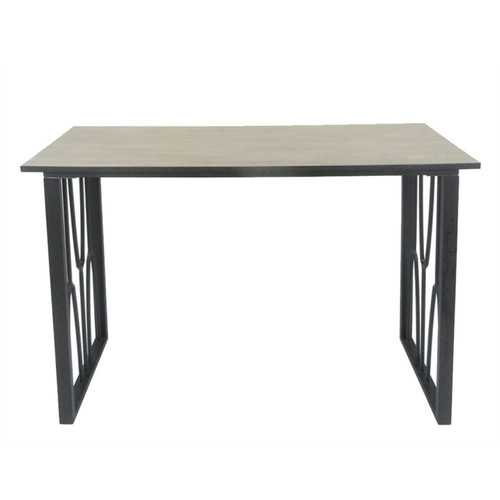 Exceptional Metal & Wood Console Accent Table, Black
