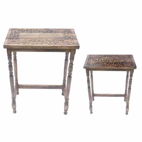 Dramatical Set of 2 Perrine Console Tables