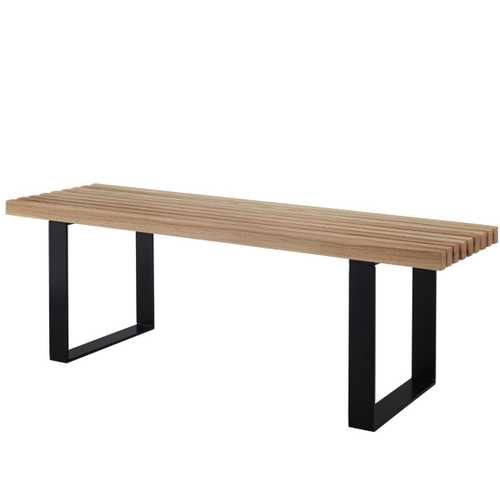 Bench Natrual W/ Steel Legs (4ft)