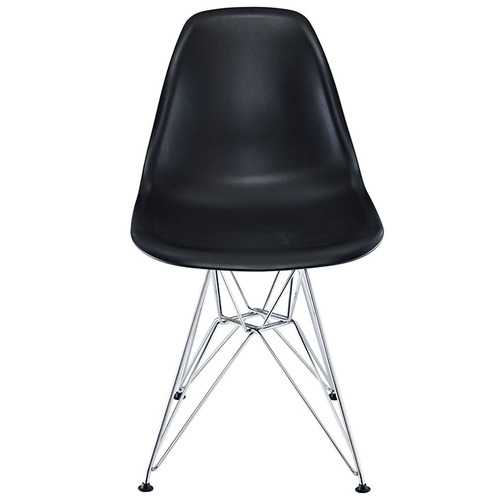 Classic Dining Chair Black W/ Wire Legs