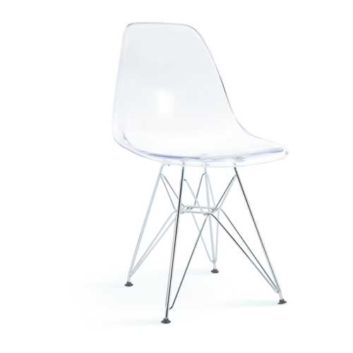 Classic Dining Chair Clear W/ Wire Legs