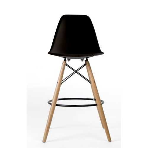 Classic Dining Chair Counter Stool Black Natrual Legs