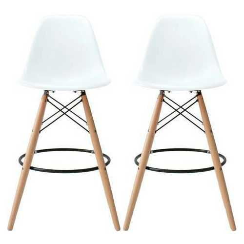 Classic Dining Chair Counter Stool White Natrual Legs