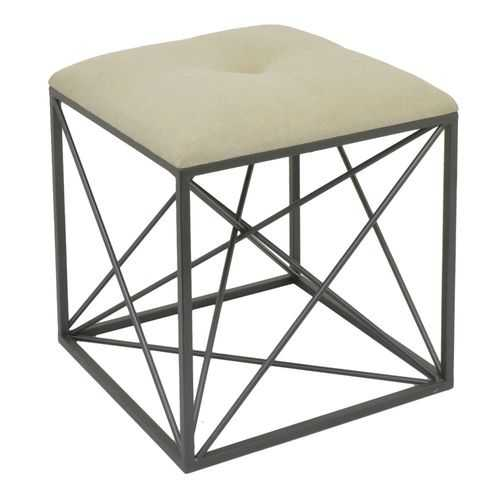 Metal Stool, Black