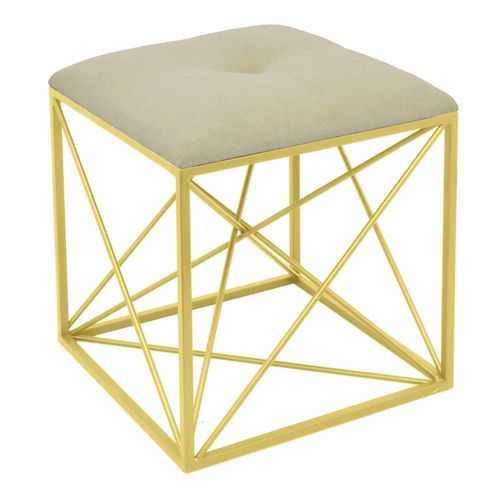 Metal Stool, Golden