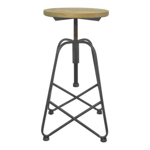Vintage Metal Wood Bar Stool