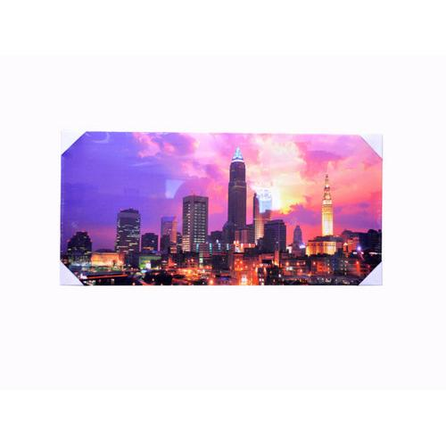 Cityscape Sunset Wrap Canvas Art ( Case of 4 )