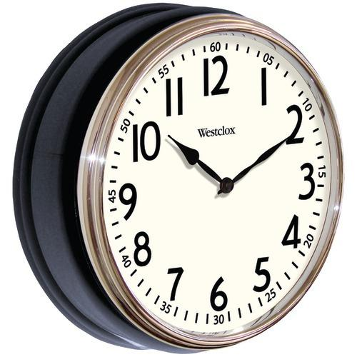 "Westclox 12"" Round Vintage Kitchen Classic Clock, Black (pack of 1 Ea)"