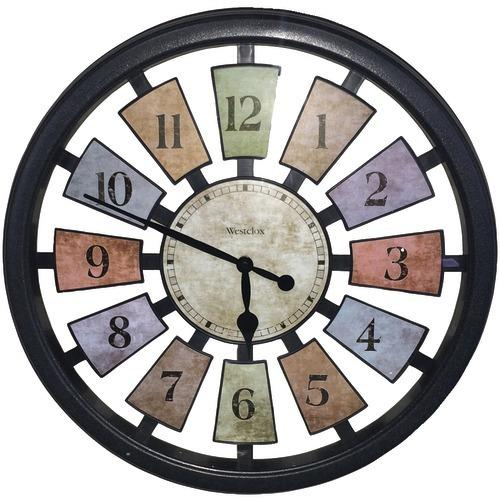 "Westclox 18"" Round Colored Panels See-through Clock (pack of 1 Ea)"