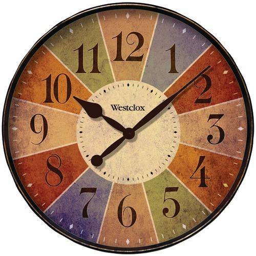 "Westclox 12"" Round Multicolor Dial Clock (pack of 1 Ea)"