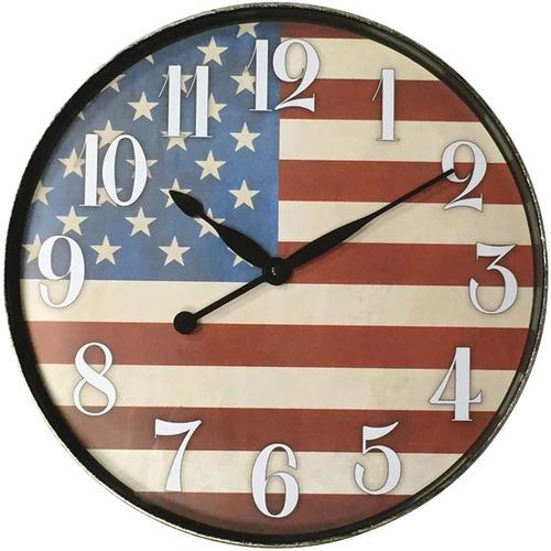 "Westclox 12"" American Flag Wall Clock (pack of 1 Ea)"
