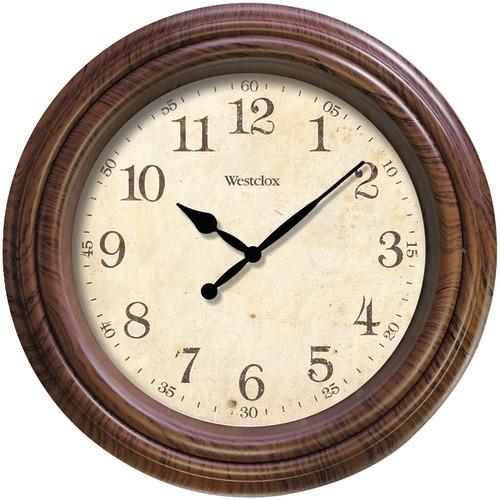 "Westclox 10"" Realistic Woodgrain Wall Clock (pack of 1 Ea)"