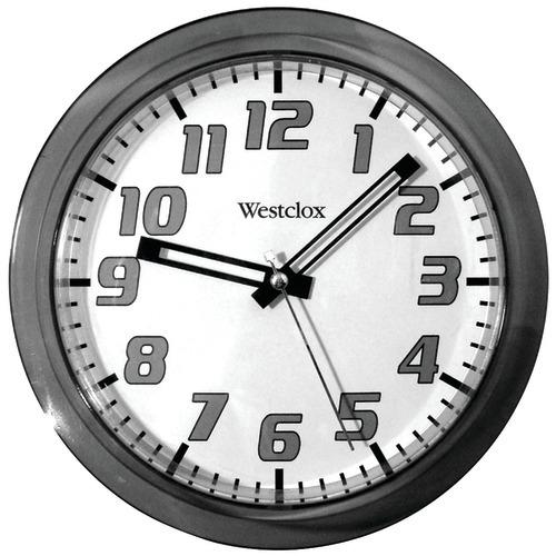 "Westclox 7.75"" Translucent Wall Clock (black) (pack of 1 Ea)"