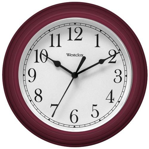 "Westclox 9"" Decorative Wall Clock (red) (pack of 1 Ea)"