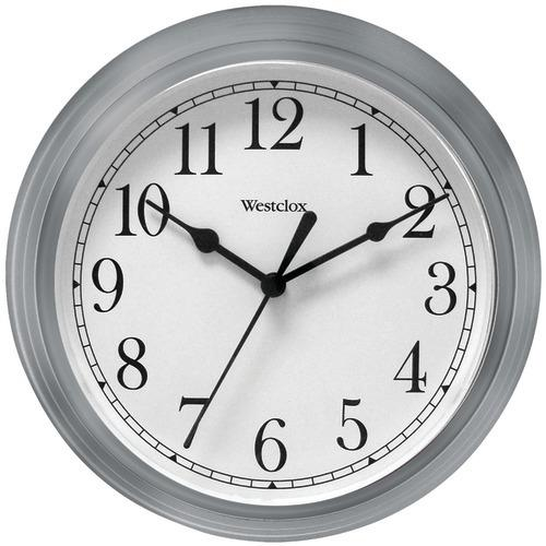 "Westclox 9"" Decorative Wall Clock (gray) (pack of 1 Ea)"