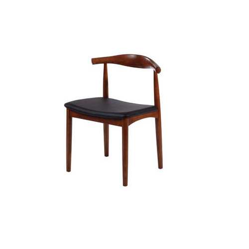 Wood Dining Side Chair Dark Walnut