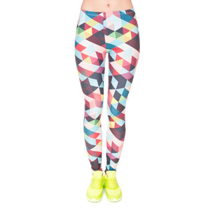 Geometry Printing Fitness Legging