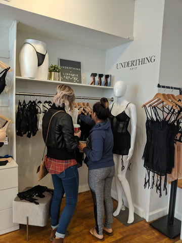 Customers Shopping Underthing Pop-Up at Expect Lace