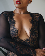 Underthing Lingerie Lace Plus Size Lingerie Long Sleeve Lace Bodysuit Sexy Woman Black Owned Brand Black Woman