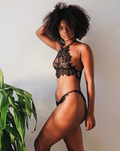 Underthing Lingerie Shop Lace Lingerie Bra Set Sexy Black Woman Victoria Secret Black Owned Brand