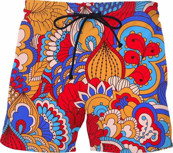 Abstract Swim Shorts - SS0369 - TROD Lightly