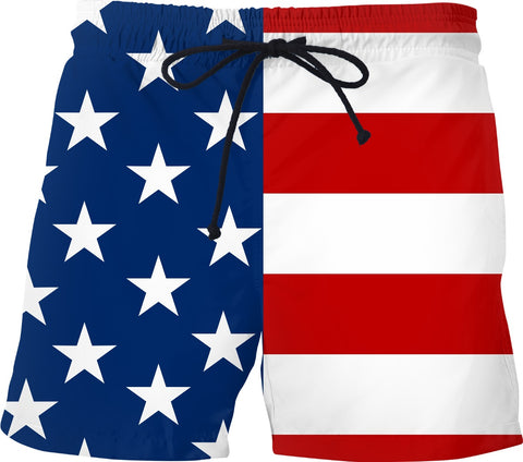 USA American Flag Swim Shorts - SS0569