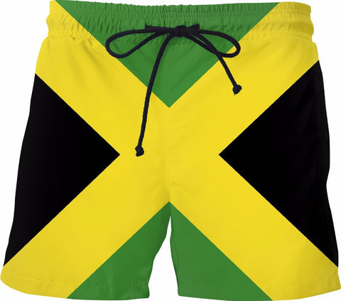 Jamaican Flag Swim Shorts - SS0192