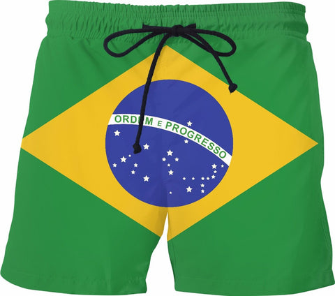 Brazilian Flag Swim Shorts - SS0492 - TROD Lightly