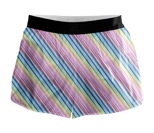 Pastel Rainbow Active Shorts - RS00001