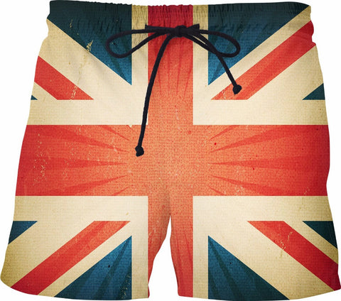Vintage British Flag Swim Shorts - SS0301 - TROD Lightly