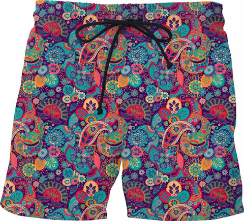 Paisley Swim Shorts - SS0129 - TROD Lightly